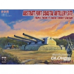 Austratt fort coastal artillery site triple 28cm turret...