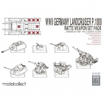 Landcruiser P.1000 Ratte Weapon Set - Modelcollect 1/72