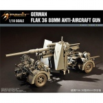 German 88mm Flak 36  Anti-Aircraft Gun - Merit 1/18