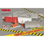 Concrete & Plastic Barrier Set - Meng Model 1/35