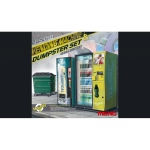 Vending Machine & Dumpster Set - Meng Model 1/35