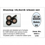 Dunlop 10,5x16 Wheel Set for CMP and British Trucks -...