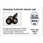 Dunlop 9,5x16 Wheel Set for CMP and British Trucks -...