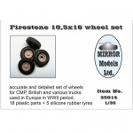Firestone 10,5x16 Wheel Set for CMP and British Trucks -...