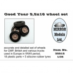 Good Year 9,5x16 Wheel Set for CMP and British Trucks -...