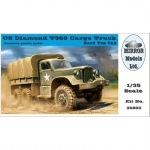 US Diamond T968 Cargo Truck (Hard Top Cab) - Mirror...