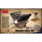 Hispano Suiza 8A Engine - Roden 1/32