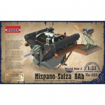 Hispano-Suiza 8Ab Engine - Roden 1/32