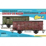 German Railway Covered G10 Wagon (6in1) - Sabre Model 1/35