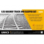 Railway Track and Sleeper Set (35.71cm Straight/Curved...
