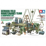 German Field Maintenance Team & Equipment Set - Tamiya 1/35