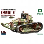 French Light Tank Renault FT Char Canon / Berliet Turret...