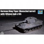 German King Tiger (Henschel Turret) w. 105mm KwK L/65 -...