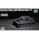 German Tiger w. 88mm KwK L/71 - Trumpeter 1/72