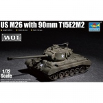 US M26 w. 90mm T15E2M2 - Trumpeter 1/72
