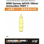 1/35 WWII German leFH18 105mm Ammunition Part 1