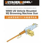 1/35 WWII US Vehicle Mounted M2 Browning Machine Gun (for...