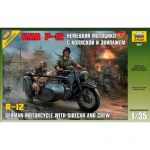 BMW R12 Motorcycle w. Sidecar and Crew - Zvezda 1/35