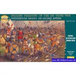 English Infantry of the 100 Years War - Zvezda 1/72