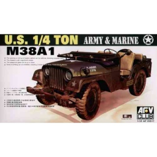 M38 A1 Army & Marine Jeep - AFV Club 1/35