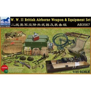 WWII British Airborne Weapon & Equipment Set - Bronco 1/35