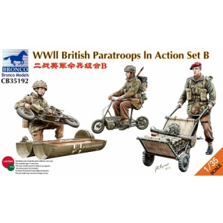 WWII British Paratroops in Action Set B - Bronco 1/35