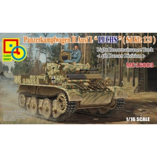 Panzer II Ausf. L LUCHS (Sd.Kfz.123) 4th Panzer Division - Classy Hobby 1/16