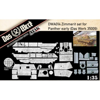 Zimmerit Set for Panther early (DW35009) - Das Werk 1/35