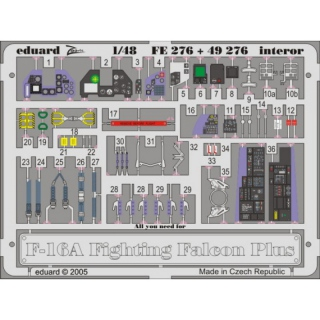 F-16A Plus Fighting Falcon - Interior 1/48