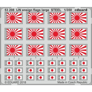 IJN ensign flags large STEEL - 1/350