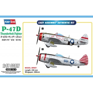 P-47D Thunderbolt Fighter - Hobby Boss 1/48