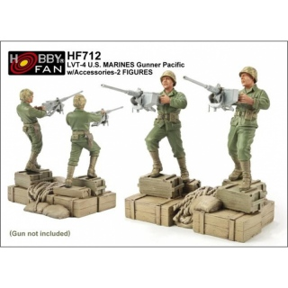 LVT-4 U.S. Marines Gunner Pacific w. Accessories - Hobby Fan 1/35