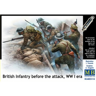 British Infantry before the Attack, WWI era - Master Box 1/35