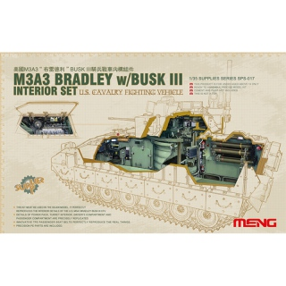 M3A3 Bradley w. Busk III Interior Set - Meng Model 1/35
