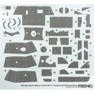 Panther Ausf.D Zimmerit Decal - Meng Model 1/35
