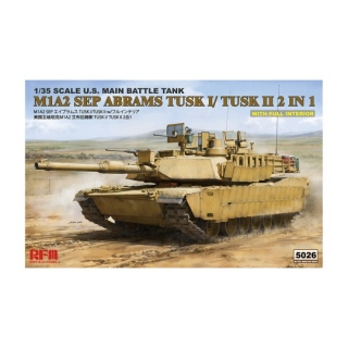 M1A2 SEP Abrams TUSK I/TUSK II w. Full Interior (2in1) - Rye Field Model 1/35