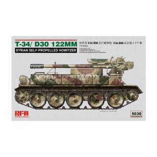 T-34/D30 122mm Syrian S.P. Howitzer - Rye Field Model 1/35