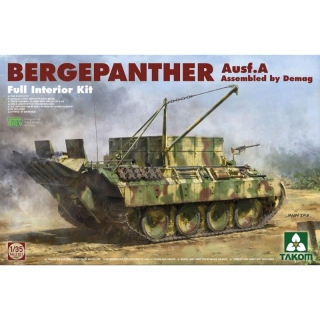 Bergepanther Ausf. A (Ass. by Demag) Full Interior Kit - Takom 1/35