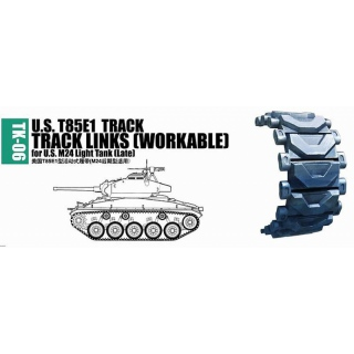 U.S. T85E1 Workable Track Links for M24 Light Tank (late) - Trumpeter 1/35